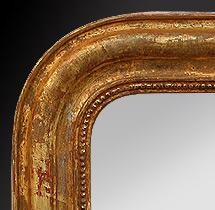 Miroir décoration cheminée Louis philippe