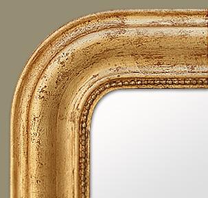 Miroir d coration bois dor poque louis philippe for Miroir encadrement bois