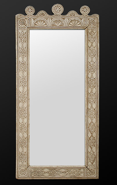 Miroir d coration oriental patin for Miroir orientable